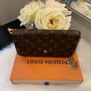 Authentic Louis Vuitton felice pochette